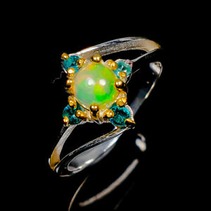 Opal Ring Silver 925 Sterling Women Fashion Design Size 7 /R139484