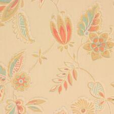 1930s Antique Vintage Wallpaper White Wheat Stems on Gray Yellow Stripe