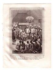 1747 ORIGINAL COPPERPLATE ENGRAVING SIGNED JACOB VAN DER SCHLEY (1715-1779) !!A