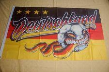 Deutschland Fußball 4 Sterne WM Ball Gesicht Fan Flagge Fahne 150 x 90 cm TOP