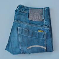Vintage GStar 3301 Jeans Straight Leg Button Fly Blue (Label W30L34) W 31 L 32