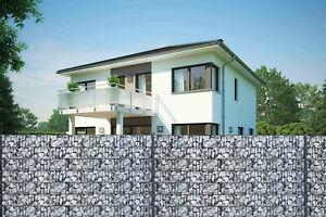 10 x Motiv Sichtschutzstreifen Hart PVC Doppelstabmatten Zaun Gittermatten