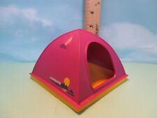 Playmobil structure PURPLE HARD SHELL PLASTIC DOME TENT ON SQUARE YELLOW BASE