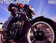 1983 HONDA VT500 ASCOT 500 MOTORCYCLE BROCHURE -VT 500 ASCOT-HONDA-VT500 ASCOT
