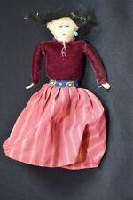 Vintage Hand Made Sewn Kids Rag Dolls Toys Multi Color