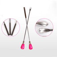 2x Nail Art Stainless Steel spatula Spoon Crystal Powder Manicure Pedicure Tool
