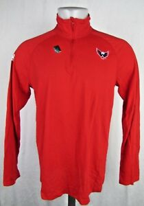 Washington Capitals NHL Men's Adidas Quarter-Zip Long Sleeve Shirt