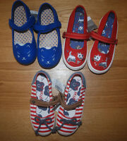 BNWT NEXT UK 8 EUR 25,5 GIRLS RED/BLUE PUMPS *DOG CAT OR STRIPED *SUMMER!