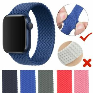 Solo Loop Strap iWatch 38mm 42mm 40mm 44mm For Apple Watch 6 5 4 SE Series