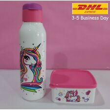 Tupperware Unicorn Collection Set - [White Bottle + Pink Snack Box]