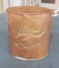 VINTAGE ARTS AND CRAFTS HERBERT DYER MOUSEHOLE NEWLYN COPPER TEA CADDY