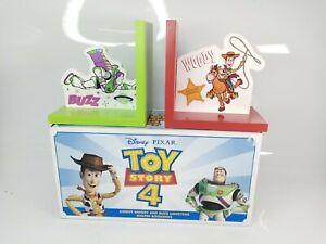 Disney PIXAR TOY STORY 4 BUZZ LIGHTYEAR & WOODY Book Ends