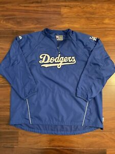 Majestic Authentic Collection Los Angeles Dodgers Cool Base Pullover 1/4 Zip 5XL