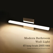Stainless Steel LED Vanity Light Wall Lamp Bathroom Front Makeup Fixture Toilet