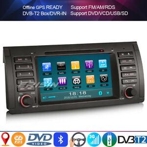 Car Stereo DVD Sat nav GPS Headunit for BMW 5 Series E39 X5 E53 SWC+Bluetooth FM