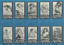 Globe cigarette cards - ACTRESSES - Full mint condition set.