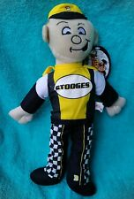 """The Three Stooges Curly Plush 18"""" Official Stooges Rare NWT Collectible"""