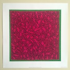 "KEITH HARING FOUNDATION POP ART LITHOGRAPH PRINT "" UNTITLED PINK PEOPLE "" 1984"