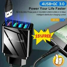 4 Port Fast Quick Charge QC 3.0 USB Hub Wall Charger Power Adapter US/EU/UK Plug