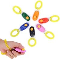 1X Puppy Dog Pet Mode Click Clicker Obedience Training Trainer Aid Wrist Strap*~