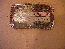 1959 Farmall 560 LP Rowcrop tractor Original IH Serial Number tag #18272 S Y CC
