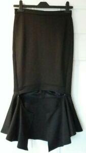 iB-iP Ladies Bodycon Ballroom Flamenco Style Black Slim Pencil Skirt Ra Ra UK8