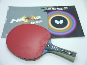 Andro – Super Core Carbon OFF, Tischtennis Schläger / Konkav / Butterfly Tenergy