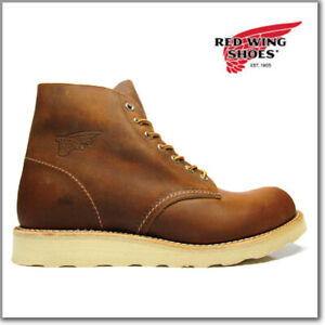 "Red Wing 9111 Men's 6"" Classic Round Boot (Copper Rough & Tough, Traction Tred)"