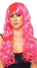 Sexy Leg Avenue Neon Pink Starbright Long Wavy Rave Costume Wig