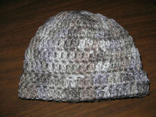 NEWBORN BABY BOY CROCHETED BEANIE HAT -  Shades of Gray - Great Photo Prop