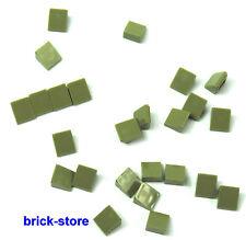 Lego Vert Olive / Vert / 1x1 Tuiles, Pièces Obliques / 20 Pièces