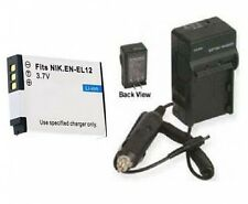 Battery + Charger for Nikon S620 S630 P300 S6100 S9100 S9700 AW110 AW120 P330