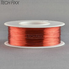 Magnet Wire 34 Gauge AWG Enameled Copper 1970 Feet Coil Winding 155°C Red