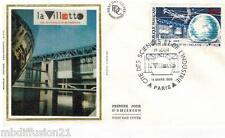 1986**ENVELOPPE SOIE*FDC 1°JOUR!!**LA VILETTE CITE DES SCIENCES**TIMBRE Y/T 2409