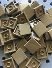 Lego New 50 Dark Tan Tiles Smooth Finishing Tile 2x2 MODULAR BUILDINGS Bricks