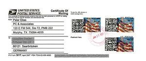 USA APC/CVP/ATM - overprint ERROR stamps on USPS Form3817 (#299) rate change