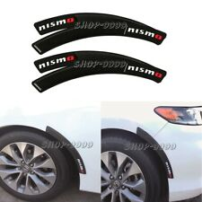 4 x Nismo C.F+Rubber Fender Arch Trim Sticker Protector Car Wheel Eyebrow Strip