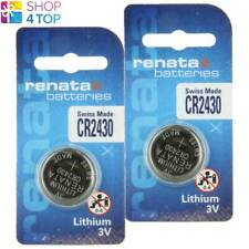 2 RENATA CR2430 LITHIUM BATTERIES 3V CELL COIN BUTTON SWISS MADE EXP 2026 NEW