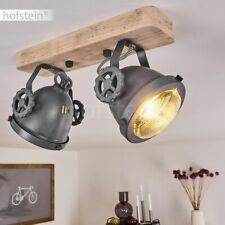 Vintage Decken Lampen Wohn Schlaf Zimmer Leuchten Flur Strahler Holz/grau Retro