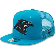 New Era Carolina Panthers Blue Trucker Patched 9FIFTY Snapback Adjustable Hat