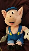 "8"" 1939 Disney Practical Pig Plush Toy W/Shovel From The Three Little Pigs"