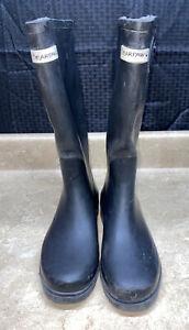 Women's BearPaw Solid Black Rubber RainBoots - Size: 8
