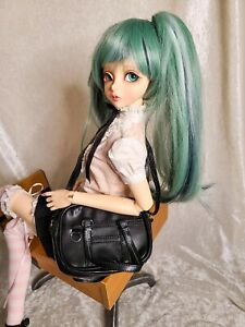 "1/3 SD Doll bjd 18"" AG School Book Shoulder Bag Purse Satchel Black"