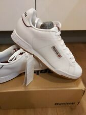 New Mens Reebok Performance White Leather Trainers Court. Size UK 7, EUR 40.5, C