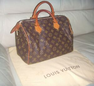Authentic LOUIS VUITTON SPEEDY 30 Monogram Hand Bag - FRANCE
