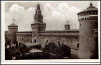 Milano Mailand Italien Postkarte ~1930/40 Italy Castello Sforzesco Burg Turm