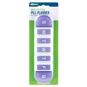 Ezy Dose (Ezy-Dose) Weekly/Elliptical Pill Planner/Medication Reminder/Pill Box
