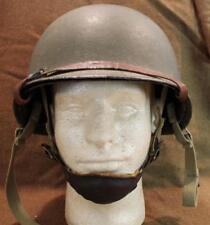 ORIGINAL VINTAGE WWII US ARMY ELEVENTH AIRBORNE PARATROOPER M1C HELMET & LINER
