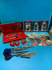 Large Lot Of Holographic Flights & Dart Tips Dart World Fan Tail Tungsten Brass