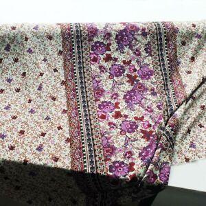 1Yard Bohemian Fabric For Dress Soft Viscose Rayon Paisley Pattern Poplin Retro